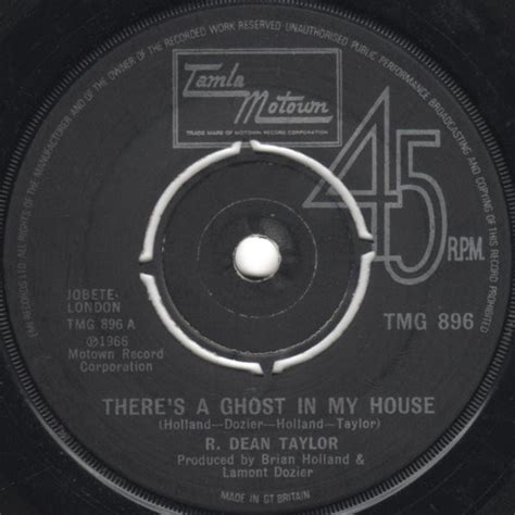 ghost in my house r dean taylor there s a ghost in my house vinyl at discogs
