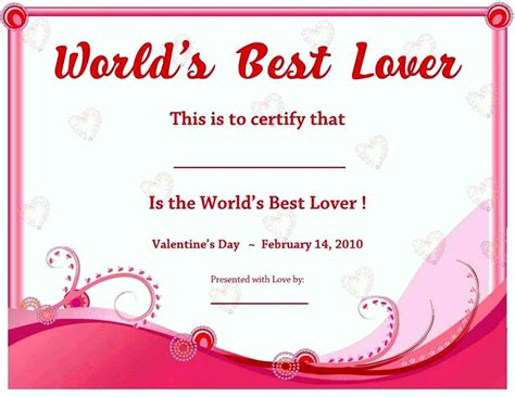 best certificate templates free best boyfriend award certificate template update234