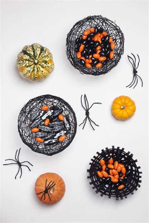 halloween diy spiderweb bowls designsponge