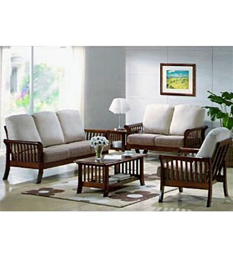 wooden sofa sets for living room induscraft living room wooden sofa set buy at best price in india on snapdeal