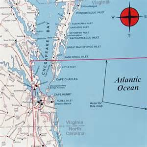 virginia carolina map top spot map n244 virginia carolina offshore