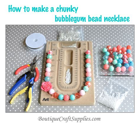 Chunky Bead Necklace Tutorial Boutique Craft Supplies