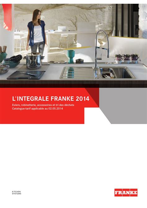 Evier Franke Catalogue by Catalogue Franke 2014 By Direct Vente Ets Pejout Sarl Issuu