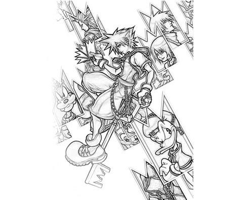 kingdom hearts coloring pages