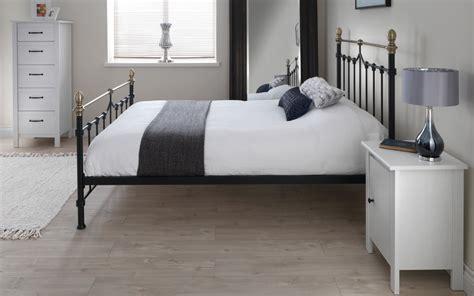 silentnight sydney metal black bed frame mattress