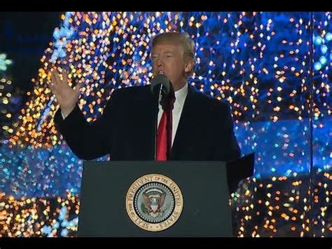 must president donald gives amazing speech after lighting the national