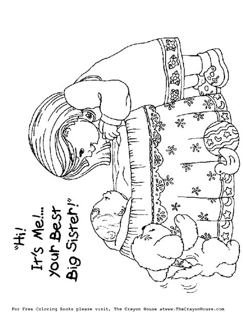 coloring pages baby sister free coloring pages of big sister with baby