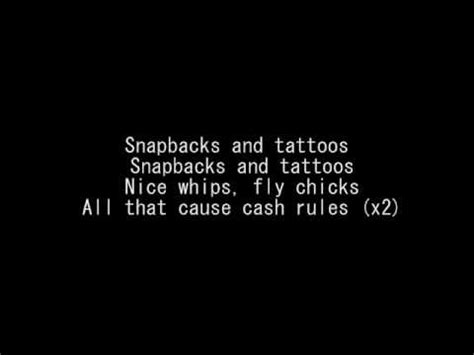snapbacks and tattoos lyrics driicky graham snapbacks and tattoos lyrics