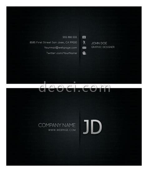 Cool Business Card Templates Photoshop by Cool Black Business Card Design Templates Photoshop