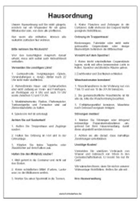 Word Vorlage Wegweiser Hausordnung Pdf Immobilien Vorlage Muster Zum Herunterladen