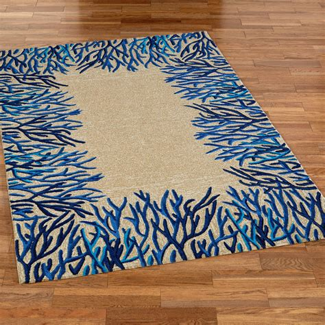 coral reef rug blue coral reef indoor outdoor area rugs