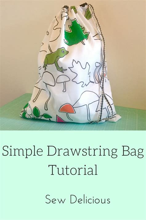 simple pattern library simple drawstring bag tutorial sew delicious