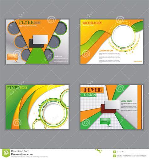 poster design horizontal vector set of horizontal flyers for design stock vector