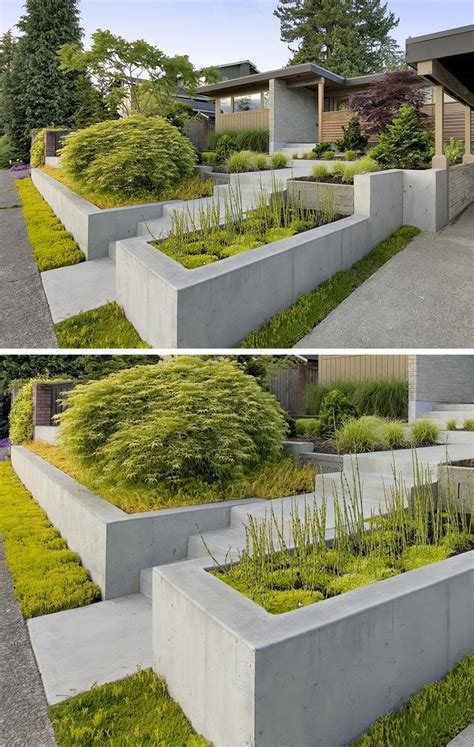 concrete planters 10 excellent exles of built in concrete planters