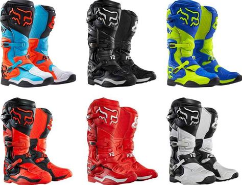 fox motocross shoes 2016 fox racing comp 8 boots motocross dirtbike mx atv