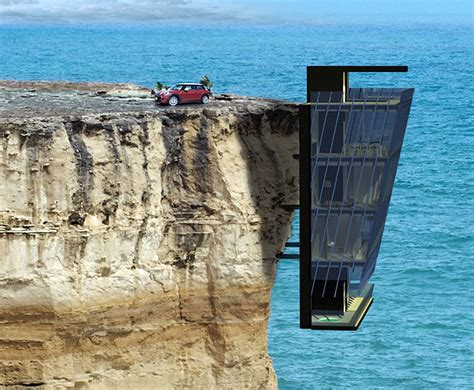 Southwest House Plans by Extraordinary Vacation Home In Australia Clings To Cliff