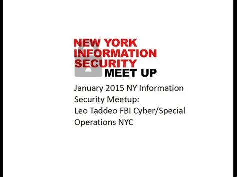 Leo Mba Information Security Management by January 2015 Ny Information Security Meetup Leo Taddeo