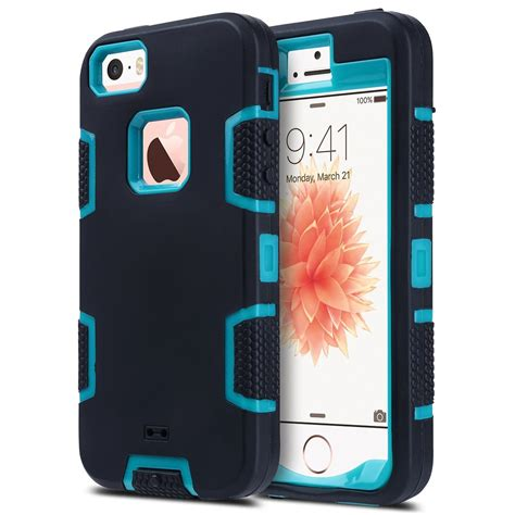 5 iphone cases heavy duty rugged shockproof protective cover for apple iphone 5 5s se ebay