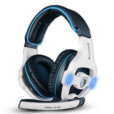 Headset Mic Gaming sades 7 1 surround stereo headband pro usb gaming headset