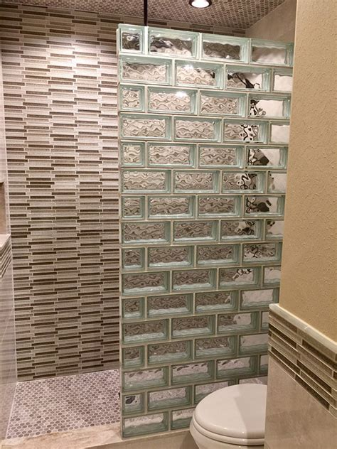 glass block bathroom designs glass block for your bathroom remodel houston glass block