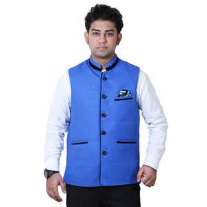 buy getabhi blue cotton modi jacket for men online