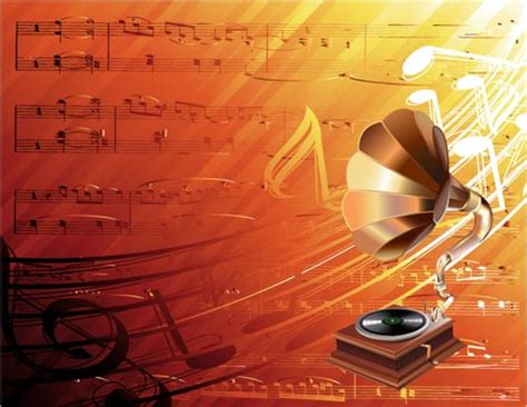 poster design notes music background vector eps