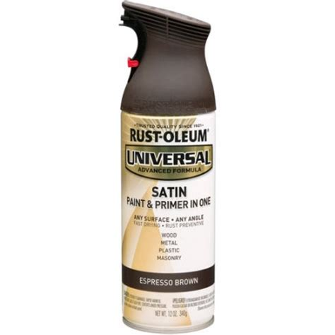 rust oleum universal satin spray paint espresso brown walmart