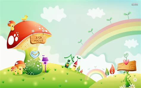 wallpaper for children rainbow cute kids wallpaper hd background screensavers