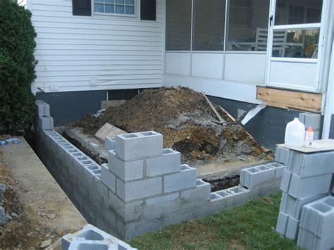 foyer foundation dempski masonry block work porches foundations wilkes