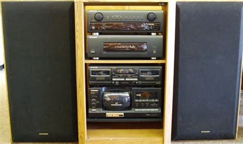 Stereo Component Rack Systems by Pioneer Rack Stereo System Vintage Electronics Dj Speakers Indoor Pools And