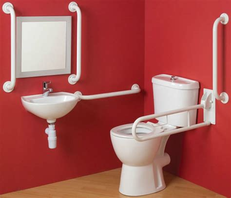 disabled bathroom grab rails disabled bathroom suite comfort height doc m pack toilet