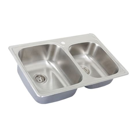 Kitchen Sinks Overmount Ticor S995 Overmount 18 Stainless Steel Kitchen Sink