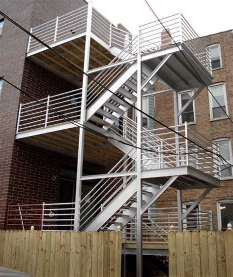 exterior staircase custom stair fabrication installation for commercial