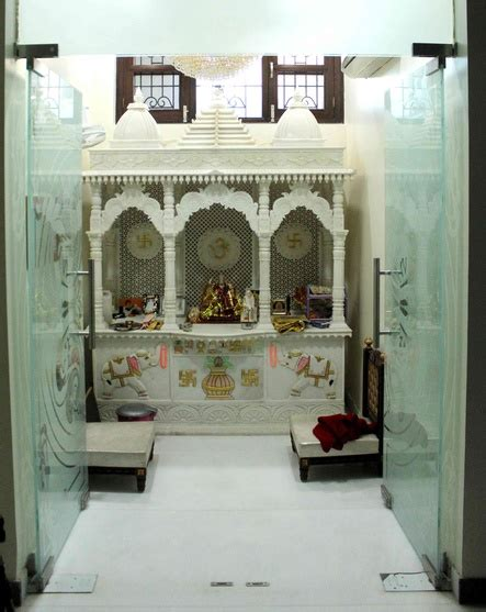 glass pooja room designs pictures models glass mandir designs ideas