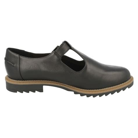 clarks flat shoes clarks t bar buckle flat shoes griffin monty ebay
