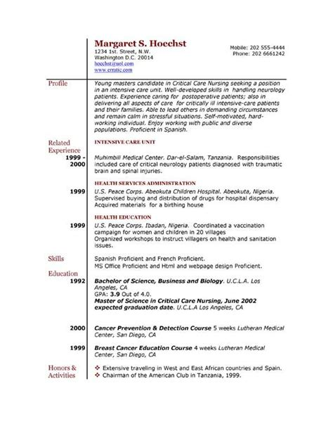 Resume Template For Mac by Professional Resume Template For Mac Free Resume Templates