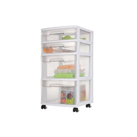 sterilite 4 drawer storage cart 28228002