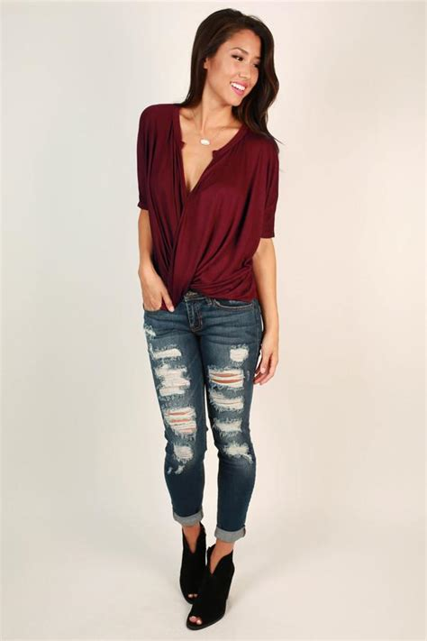 Victory Top Maroon Ff city soiree top in maroon impressions boutique