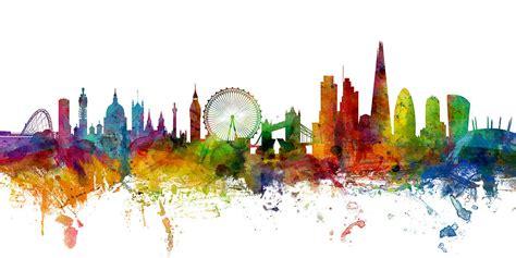 london england skyline panoramic digital art by michael