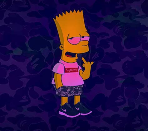 Bart Simpsons X Supreme supreme high bart wallpapers to your cell phone