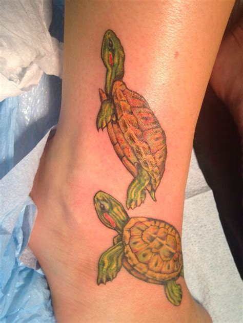 reds tattoo eared slider turtle tattoos