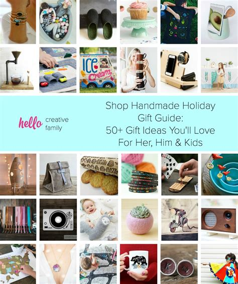 Handmade Gifts Shopping - shop handmade gift guide 50 ideas for him