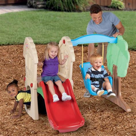 little tikes plastic swing set and slide swing sets for children outdoor little tikes toddlers