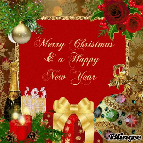 merry christmas happy  year picture  blingeecom