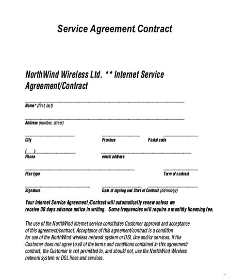 it services agreement contract template service agreement contract expert icon services sle