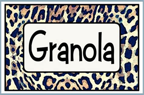 printable granola labels artbyjean paper crafts set 001 a collection of