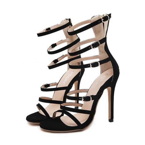 black strappy high heels black suede strappy high heel gladiator sandals