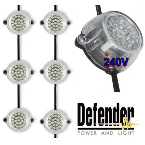 Defender Led Garden Outdoor Light Festoon Chain Kit 22m Festoon Light String