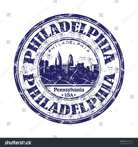 Pennsylvania Search By Name Blue Grunge Rubber St With The Name Of Philadelphia The Largest City Of