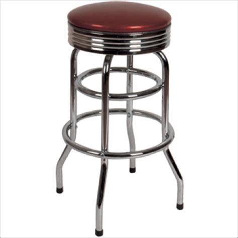 Retro Diner Stools by Backless Swivel Retro Diner Stool Millennium Seating